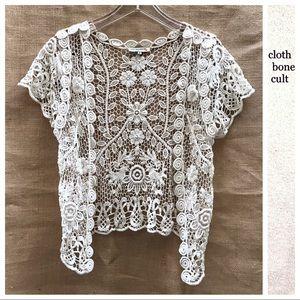 Jackets & Blazers - Beautiful Crocheted Short Sleeve Summer JACKET